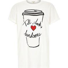 White tall dark handsome oversized t-shirt