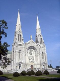 """St. Anne du Beaupre - Quebec City.  They have a reproduction of """"The Pieta"""" that moves you to tears it is so beautiful."""