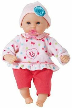 """Corolle Mon Premier Calin Candy Pink - 12"""" Doll by Corolle. $149.99. Perfect as your child's first doll.. The adorable outfit is easy to take on and off, and is machine washable.. This doll won the Oppenheim Toy Portfolio Platinum Award, Oppenheim Toy Portfolio Gold Seal, and ASTRA's """"Top 20 Toys for the Holidays"""" Award.. This doll has internally sealed eyes that really open and close.. Machine washable on gentle cycle.. Amazon.com                The Mon Premier Calin..."""