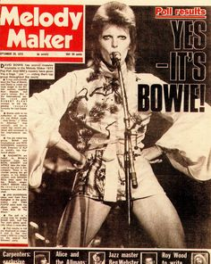 DAVID BOWIE cover MELODY MAKER music newspaper September 29 1973. (please follow minkshmink on pinterest)