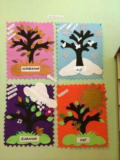 Sun Crafts, Diy And Crafts, Autumn Activities, Art Activities, Weather Art, Preschool Weather, Charts For Kids, Kids Calendar, Handmade Felt