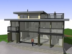 Shipping Container House/Home Plans and Container City Designs