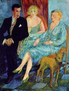 Cafe, 1932-34, by Aligi Sassu. Italian (1912 - 2000)