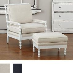 Jenny Lind Chair & Ottoman