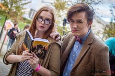 Amelia Pond and The Doctor - MCM London Comic-Con 2014