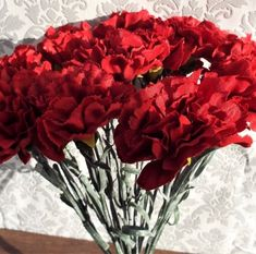 Carnation Bouquet With 11 Large Red Flower Heads - Irish Plants Direct