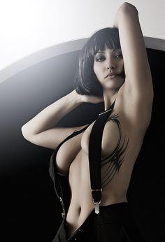 Sexy women suspenders
