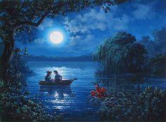 """Kiss the Girl"" by Rodel Gonzalez - Original Oil on Canvas, 24x30.  #Disney #LittleMermaid #DisneyFineArt #RodelGonzalez"