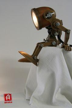 Alain Schlup, www.al1.ch, zbrush 3d Printed Robot, Bird Fountain, 3d Printing Diy, Prusa I3, Creative Lamps, Pipe Lighting, 3d Cnc, Diy Crafts Hacks, Handmade Lamps