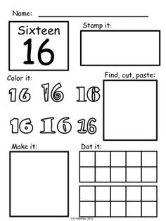 Super Simple Math: Number Worksheets, Numerals 0-20, NO
