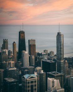 Chicago Usa, Travel And Tourism, Aerial View, Free Photos, Skyscraper, Aesthetics, Stock Photos, Skyscrapers
