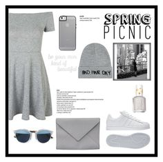 """All about that greys"" by jordangirl2313 ❤ liked on Polyvore featuring Topshop, PBteen, Ann Demeulemeester, adidas, Christian Dior, Essie and Local Heroes"