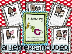 Free ABC book to practice handwriting and work on letters/letter sounds!