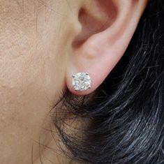 #jewelry #earrings #studearrings #diamondearrings #14kwhitegold #diamondearring #bridalearring #weddingearring #screwbackearring #fineearring #2caratdiamond #genuinediamond #engagementearring #solitaireearring #diamondstud #bridesmaidearring Bridesmaid Earrings, Bridal Earrings, Etsy Earrings, Diamond Solitaire Earrings, Diamond Studs, Radiant Engagement Rings, White Gold Diamonds, Gold Gold, Diamond Dealers