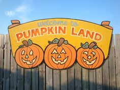 pumpkin patch sign