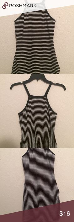 Express black and white striped dress Black and white striped bodycon dress from express Express Dresses Midi