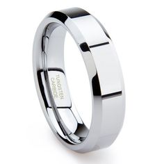 $9.99 This beautiful tungsten ring is 6MM in width. It has a matte finish center. If you are looking for a ring that is scratch proof and forever keep its shine, then our Tungsten Carbide rings are for you. Tungsten Carbide is ranked second hardest next to diamond on the Mohs scale, diamond being a 10 followed by Tungsten Carbide as 9. All of our Tungsten rings are Cobalt Free and hypoallergenic...