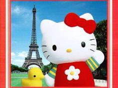 Hello Kitty Beach Wallpaper | Hello Kitty Eiffel Tower Wallpaper