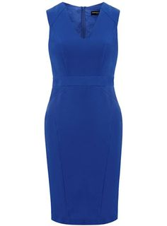 Cobalt seam detail pencil dress - Only $39, a great color, I love the bodycon dresses like this and I could pull this look off for work or a nice dinner out.