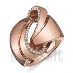 ELMA*GIL 18KRG Diamond Fashion Ring DR-400