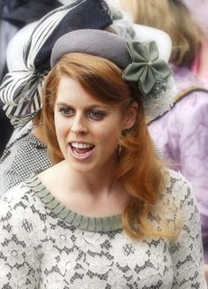 Princess Beatrice of York celebrated her grandmother's Diamond Jubilee at Epsom Downs for a day of horse racing on June Hat by Piers Atkinson. Princess Eugenie And Beatrice, Royal Princess, Prince And Princess, Duchess Of York, Duke Of York, Duke And Duchess, Sarah Ferguson Prince Andrew, Prince William Wife, Windsor