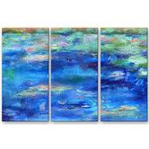 Found it at Wayfair - 'Aplacetothink' by Jacqueline Gouveia 3 Piece Painting Print Plaque Set