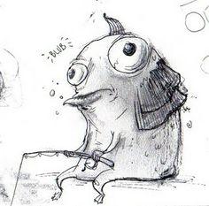 Lesser Evils: Tristan Draws Monsters: March 2011