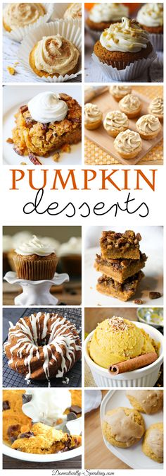 Delicious Pumpkin Dessert Recipes perfect for fall. You'll love to try out these recipes this autumn.