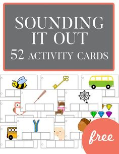 Sounding It Out Activity Cards. These 52 activity cards are a fantastic way to get kids to start sounding out their words! I love how versatile they are!!