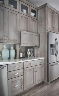 locate ideas and inspiration for rustic unbiased kitchen to mount up to your own home. #rusticmodernkitchendecor #KitchenCabinetsWood