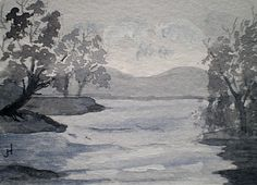 ACEO Original Water Colour Landscape Painting  ' by greanbea, $5.50