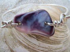 Shell Bracelet Purple Wampum Seashell jewelry