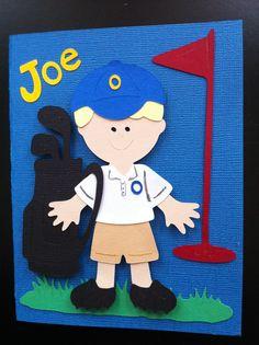 Birthday Golf Card. Cricut Everyday Paper Dolls.