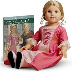 """Retired American Girl Doll """"Elizabeth"""" joined the American Girl collection in 2005. Elizabeth was created as Felicity's best friend and she was archived in 2011. Both Elizabeth and Felicity represent the year 1774.    To her dismay, Elizabeth discovers that a family marriage could very well mean that she might have to move back to England. As a result, Elizabeth and Felicity put their heads together and invent a plan that might allow her to stay."""