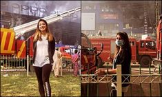 Fatima Nasir slammed for insensitive pictures on Hafeez Centre fire