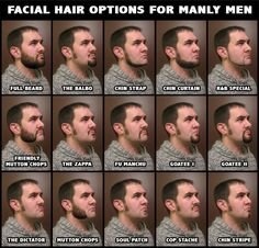 Men's facial hair styles...I'm still voting for chops.