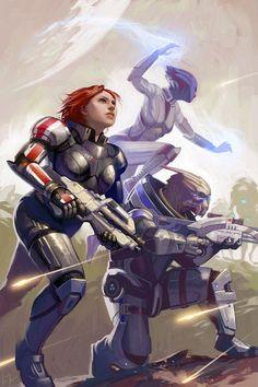 Mass Effect Fan Art by Lizzy-John on DeviantArt Mass Effect Games, Mass Effect 1, Mass Effect Universe, Bioshock, Game Character, Character Design, Techno, Commander Shepard, Fanart