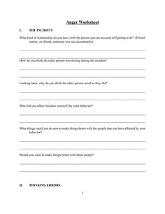 Worksheets Criminal Thinking Worksheets cognitive distortions worksheets and alternative on pinterest anger worksheet i