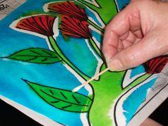 Vivid, dye and bleach pohutakawa pictures Calendar Ideas, 2019 Calendar, Classroom Displays, Art Classroom, Teaching Art, Teaching Tools, Christmas Goodies, Christmas Crafts, Nz Art