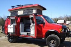 SPORTMOBILE OFF ROAD RV CAMPER - very cool....can sleep 4 and no special storage needed.