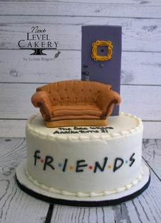 Custom cakes, special occasion cakes, wedding cakes, and cupcakes serving Olathe and greater KC area. Friends Birthday Cake, Friends Cake, Friends Tv, Bolo Crossfit, Cake Tv Show, Cute Desserts, Occasion Cakes, Cute Cakes, Themed Cakes