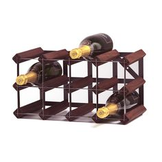Anchor 12-bottle 4x2 Stained Pine/ Galvanized Steel Wine Rack