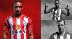 camisetas de futbol online 2018: Nueva camiseta del Sunderland  Primera 2017