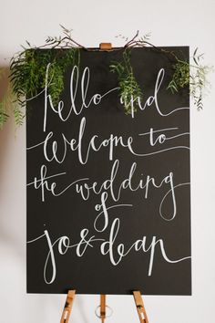 Wedding Ceremony Calligraphy Welcome Sign Chalkboard Wedding, Wedding Signage, Chalkboard Art, Calligraphy Welcome, Modern Calligraphy, Beautiful Calligraphy, Our Wedding, Dream Wedding, Wedding Ceremony