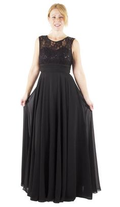 Cindy Collection USA Chiffon Gown - 1375