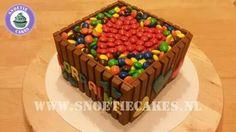 Kitkat m&m's taart