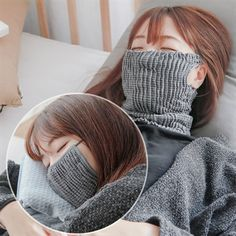 Staying home is better for you Bonnet Crochet, Crochet Mask, Ways To Wear A Scarf, How To Wear Scarves, Sewing Patterns Free, Knitting Patterns, Fanny Pack Pattern, Flu Mask, Mouth Mask Fashion
