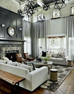 15 Wonderful Transitional Living Room Designs To Refresh Your Home With - Transitional Decor - Curtain Elegant Living Room, My Living Room, Living Room Interior, Home Interior, Living Room Decor, Modern Living, Luxury Living, Minimalist Living, Simple Living