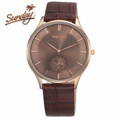 weiqin 5ATM water resistant rose gold male watches double dial Generous simple Retro business designer man wristwatch