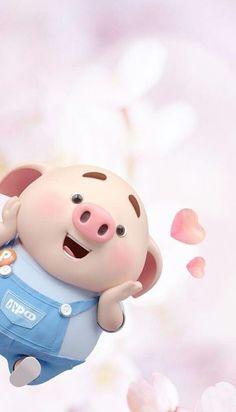 Pig Wallpaper, Funny Phone Wallpaper, Cute Wallpaper Backgrounds, Hd Cool Wallpapers, Cute Cartoon Wallpapers, This Little Piggy, Little Pigs, Kawaii Pig, Cute Bunny Cartoon